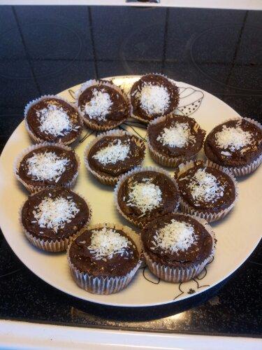 Chokladbananmuffins!